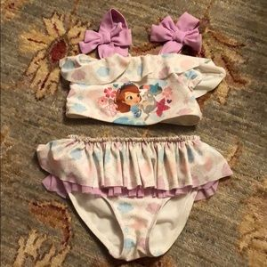 Disney Sofia the First bathing suit/ coverup